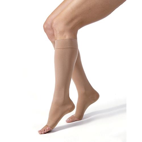 WOLLEX - 851 Dizaltı Burnu Açık CCL 1 Bej Varis Çorabı