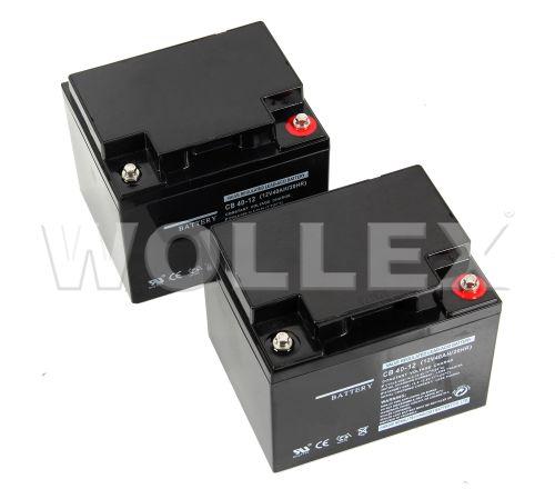 WOLLEX - 12000040 12V 40Ah Deep Cycle Akü 2 adet
